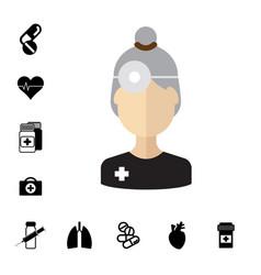 Medical specialist avatar vector