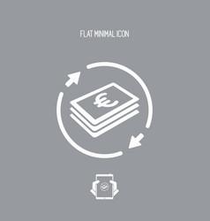 Money transfer icon - euro vector