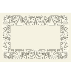 Mono Line Frame Simple Certificate Border vector image