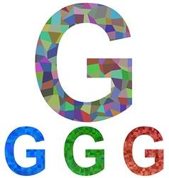 Mosaic font design - letter G vector