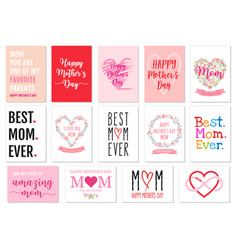 Mothers day cards set vector