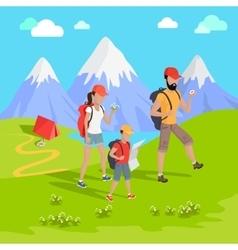 Mountain Tourism Concept vector image