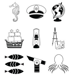 Nautical elements 3 vector image