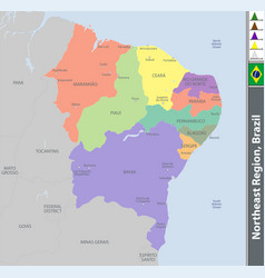 Northeast region of brazil vector