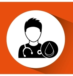Nurse character blood donation design vector