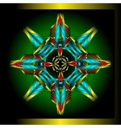 Octagonal star vector