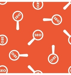 Orange SEO search pattern vector