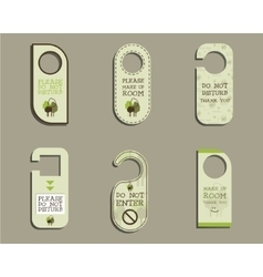 Organic Door knob or hanger sign set- do not vector