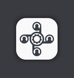 Outsource icon symbol vector
