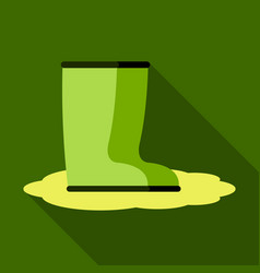 pair of rubber rain boots symbol of autumn and vector image