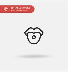 piercing simple icon symbol vector image