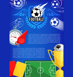 Poster for football championship cup vector
