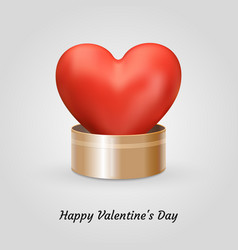 poster happy valentines day vector image