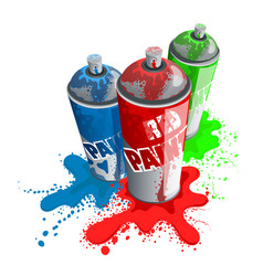 red blue green paint spray vector image