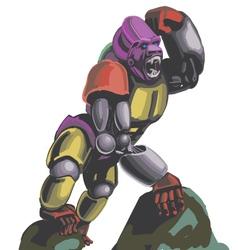 Robogarilla vector