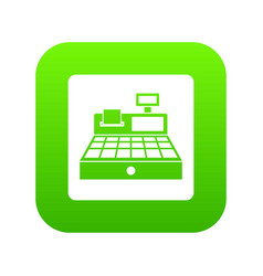 sale cash register icon digital green vector image