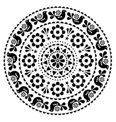 scandinavian folk design mandala pattern vector image