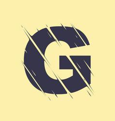 scribbled letter g vector image
