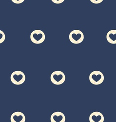Seamless pattern with heart isolated on blue vector image