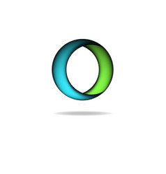 Shape of circle logo graphic letter O creative vector image