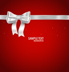 Shiny ribbon on red background vector image