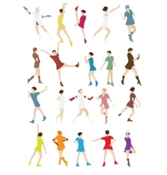 Silhouette of a Dancing Woman vector image