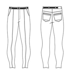 skinny jeans vector image