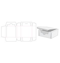 Snack packaging box die cut template design vector