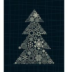 snowflake christmas tree vector image vector image