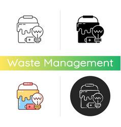 Special waste icon vector