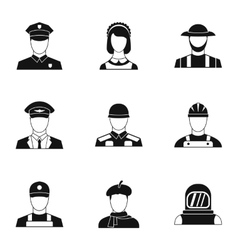 Specialty icons set simple style vector