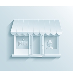 Store paper icon vector image