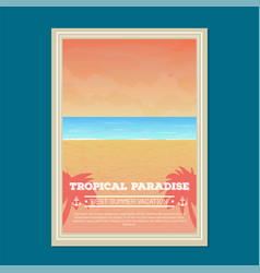 Summer beach holiday banner vector