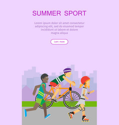 Summer sport banner vector