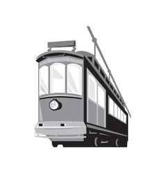 Vintage Streetcar Tram Train vector