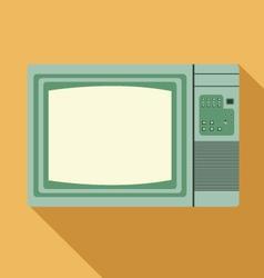 Vintage television vector