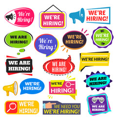 We are hiring sign vector