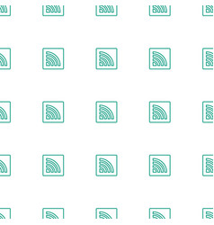 wi fi icon pattern seamless white background vector image