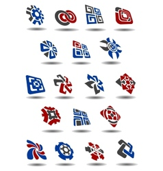 Abstract icons symbols and logos vector image vector image