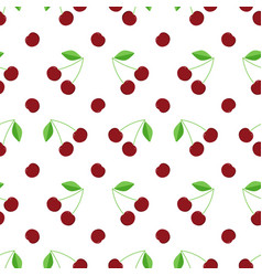 flat design cherry seamless pattern background vector image vector image
