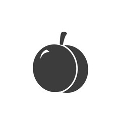 monochrome isolated apricot icon on white vector image vector image