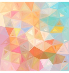 Pastel colors abstract triangles background vector image