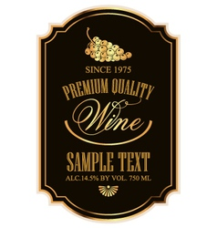 Wine label vector image vector image