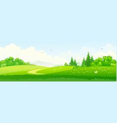 green landscape banner vector image