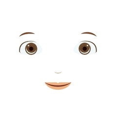 Isolated face cartoon design vector image