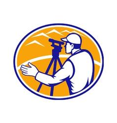 Surveyor Engineer vector image
