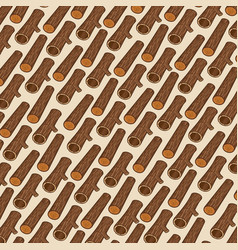 background pattern with wooden logs vector image vector image