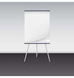 Board for presentations with sheet of paper stand vector image