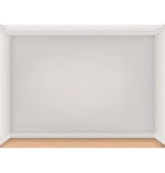 Empty room with three beige walls vector image