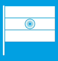 Indian flag icon white vector